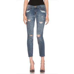 Current Elliot Leopard Distressed Skinny Jean